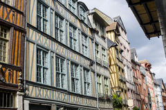 Rouen - Exterior of ancient houses royalty free stock photo