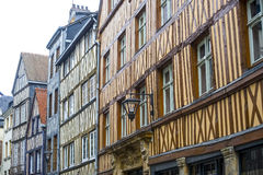 Rouen - Exterior of ancient houses Royalty Free Stock Images