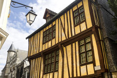 Rouen - Exterior of half-timbered house Stock Photos