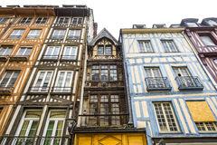 Rouen - Exterior of half-timbered houses Royalty Free Stock Photos