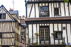 Rouen - Exterior of half-timbered houses Royalty Free Stock Photo