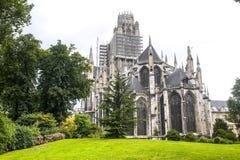 Rouen - Exterior of Saint-Ouen church Stock Image