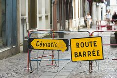 Route barree Royalty Free Stock Photography