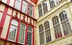 Rouen, France - november 26 2016 : the historical city center stock images
