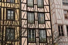 Rouen, France - november 26 2016 : the historical city center stock photos