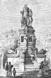 Rouen, Francia, monumento a Jean-Baptiste de La Salle fotografia stock