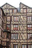 Rouen - Half-timbered buildings Stock Photo