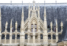 Rouen - historisk slott Royaltyfri Fotografi
