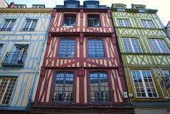 Rouen horloge för ruedu gros, korsvirkes- hus royaltyfri fotografi