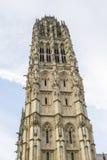 Rouen - klockstapel av domkyrkan arkivbilder