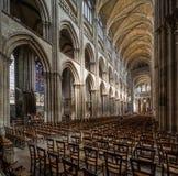 Rouen, Normandie, le 4 mai 2013 - la belle nef de Notre Dame photos libres de droits
