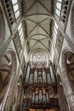 Rouen - Organ of Saint-Maclou church Royalty Free Stock Photo