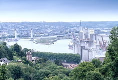 Rouen panoramic aerial view, France Royalty Free Stock Images