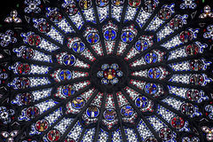 Rouen - Rose window Royalty Free Stock Photos