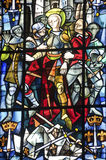 Rouen - Stained glass stock image