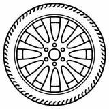 Roues à disque automatiques de roue Rim Tire Disc photos stock