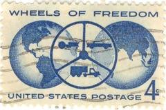 Roues d'estampille de liberté Image stock