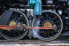 Roues d'une locomotive à vapeur Image libre de droits