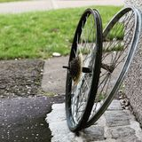 Roues de bicyclette images stock