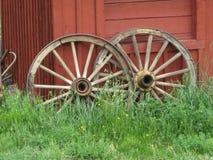 Roues de chariot image stock