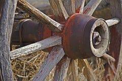 Roues de chariot de l'ouest Photographie stock libre de droits
