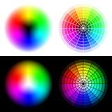 Roues de couleur de HSV Photographie stock libre de droits