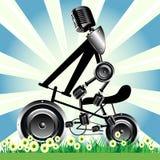 Roues de haut-parleur de bicyclette illustration libre de droits
