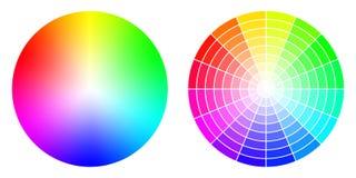 Roues de la couleur HSV Photographie stock