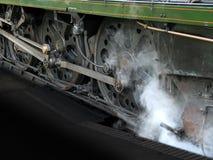 Roues de locomotive à vapeur Photographie stock libre de droits