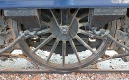 Roues de locomotive à vapeur ou roues de train de vapeur Images libres de droits