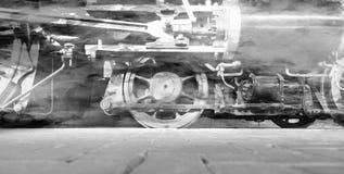 Roues de locomotive à vapeur ou roues de train de vapeur Image stock