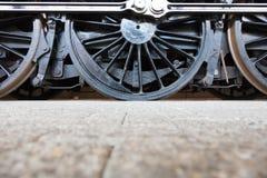 Roues de locomotive à vapeur ou roues de train de vapeur Photos stock