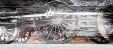 Roues de locomotive à vapeur ou roues de train de vapeur Photos libres de droits
