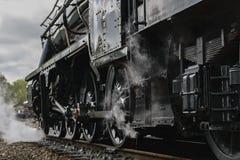 Roues de machine à vapeur image libre de droits