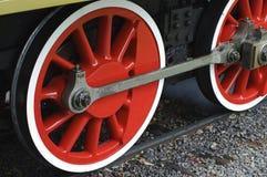 Roues de machine à vapeur Photos libres de droits