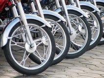 Roues de moto Photographie stock