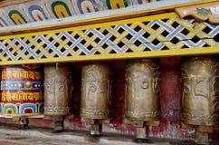 Roues de prière bouddhistes photo libre de droits