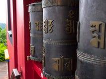 Roues de prière bouddhistes Photographie stock