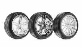 roues de sport de graphisme du véhicule 3d Photos stock