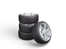 roues de sport de graphisme du véhicule 3d Seringue du concept design Photographie stock libre de droits