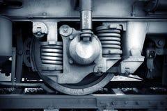 Roues de train Photographie stock libre de droits