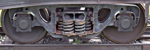 Roues de train Images stock
