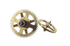roues de trains d'horloge Photos libres de droits