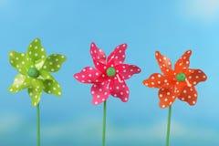 Roues de vent pour des enfants Photo stock
