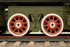 Roues de vieux train Photographie stock