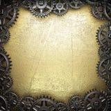 Roues de vitesse sur l'or Images libres de droits