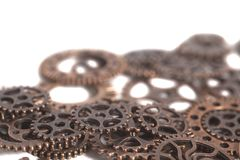 Roues de vitesses en métal Images stock