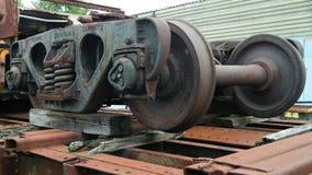 Roues de voiture de rail photo stock