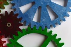 Roues dentées colorées Photo libre de droits