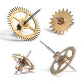 Roues dentées d'horloge images libres de droits